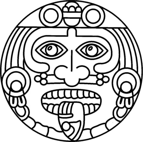 aztec masks coloring pages – pjlibraryradio.info   595x600