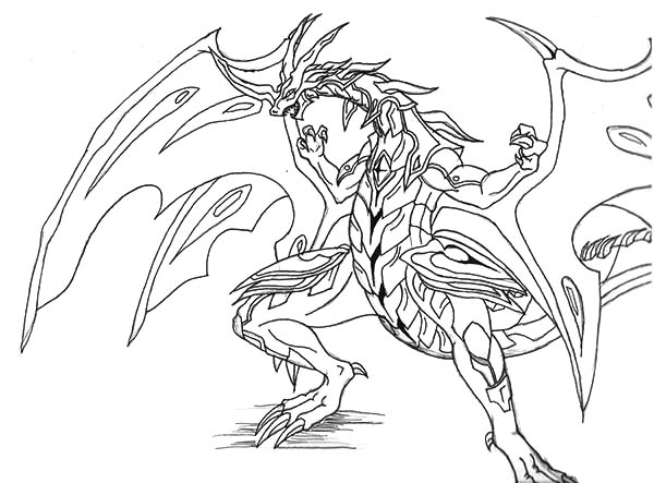 Bakugan Drago Coloring Pages Coloring Pages