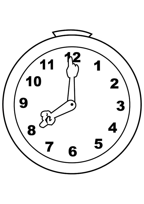 cute and silly analog clock coloring pages bulk color