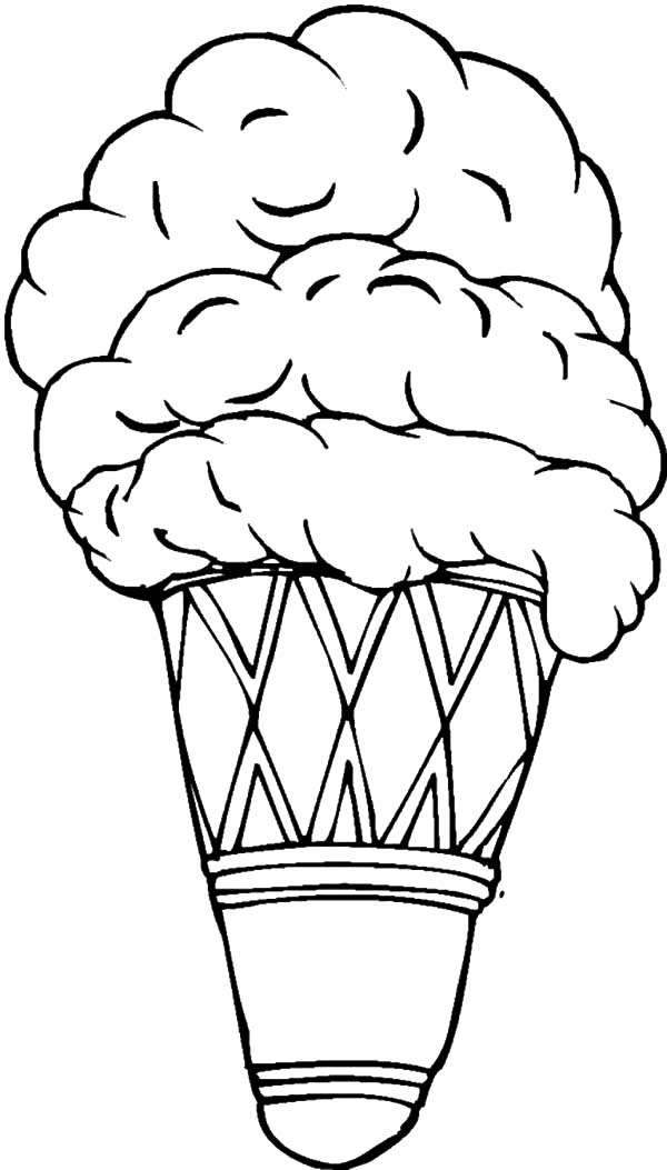 ice cream cone coloring pages double scoop ice cream cone coloring