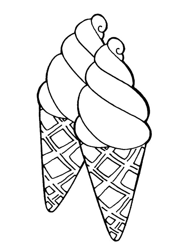 six ice cream cone coloring pages bulk color
