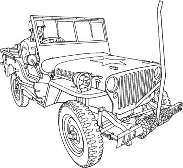 army jeep coloring pages | Lifted Jeep Wrangler Coloring Page Pages Sketch Coloring Page