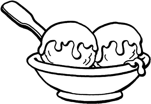 ice cream sundae coloring page bulk color