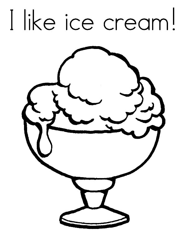 ice cream served with wafer and whipped cream coloring pages bulk