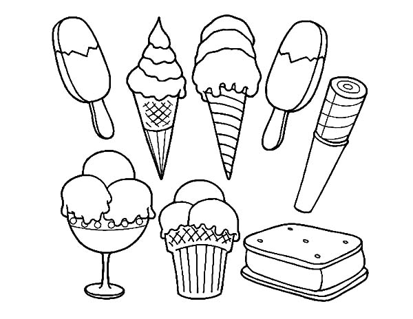 ice cream ice cream sandwich coloring pages