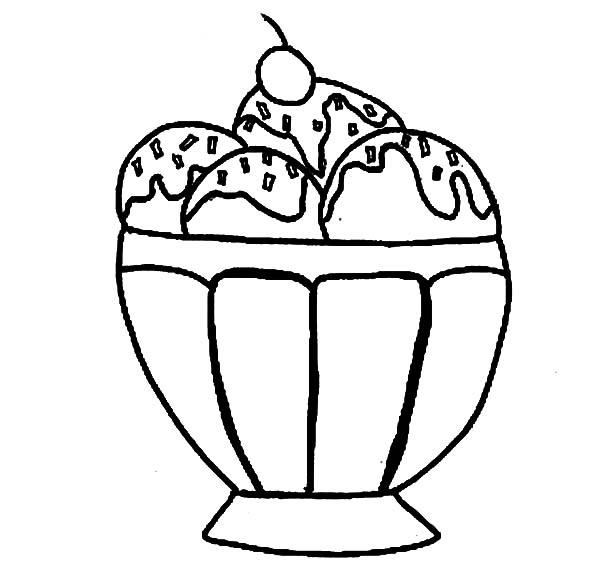 ice cream ice cream sundae coloring page ice cream sundae coloring