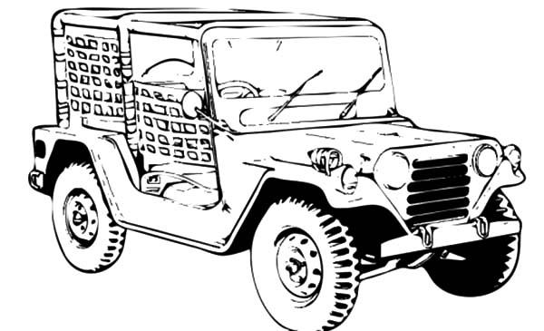 jeep army car coloring pages bulk color
