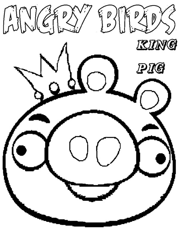 drawing angry bird pigs coloring pages bulk color