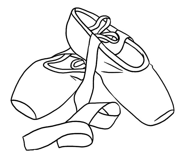 ballerina shoes princess ballerina shoes coloring pages