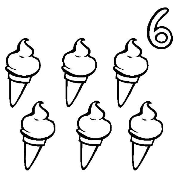ice cream cone six ice cream cone coloring pages