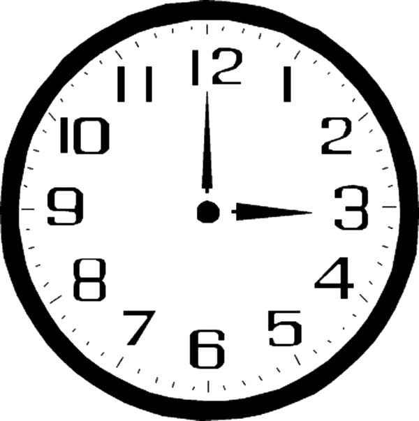 three o 39 clock on analog clock coloring pages three o 39 clock on