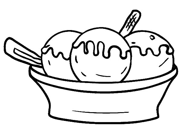 ice cream bowl coloring pages three scoop of ice cream bowl coloring