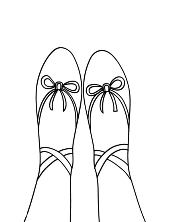 picture of ballerina shoes coloring pages bulk color