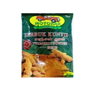 Motokar Serbuk Kunyit (Turmeric Powder) - 1 Kg x 10 pck x 1 bdl