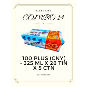 COMBO 14 – 100 Plus (CNY) 325 ml x 28 tin x 5 ctn