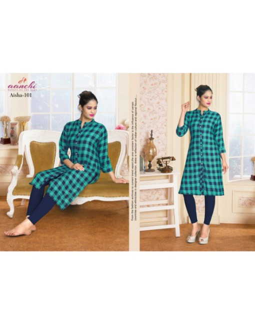 Rs 432 Piece - Anchi Aisha Stitched Kurtis Wholesale Catalog 08 pcs