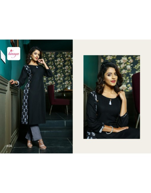 Rs 285 Pc Hinaya Krisha Stitched Kurti Wholesale Catalog 08 pcs