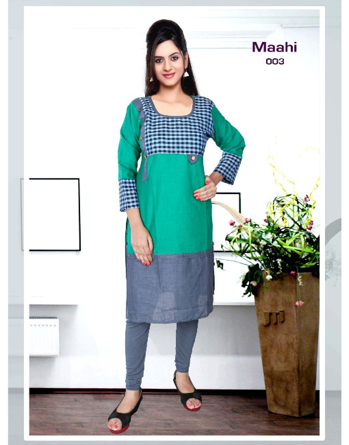 Rs 250 Piece - Maahi Stitched kurti Wholesale Catalog 10 pcs