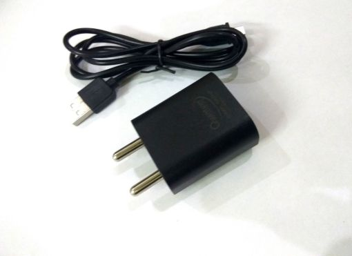 QUANTUM QHM2000 MOBILE CHARGER WITH 1 Mtr USB CABLE (Black)