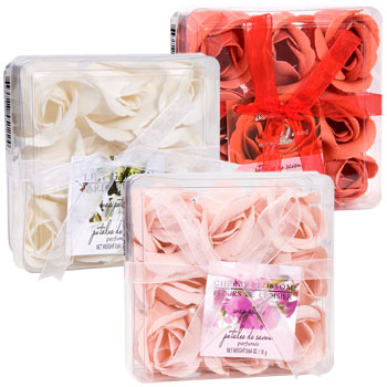 Scented Rose Shaped Soap Petals 9 Ct Pack