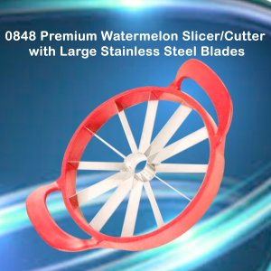0848 Premium Watermelon Slicer/Cutter with Large Stainless Steel Blades - Bulkysellers.com