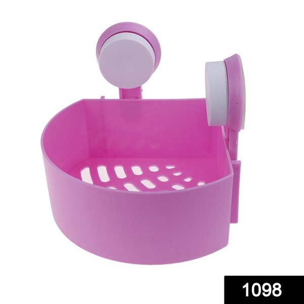 1098 Corner Shelf Multipurpose Tray with Suction Cup - Bulkysellers.com
