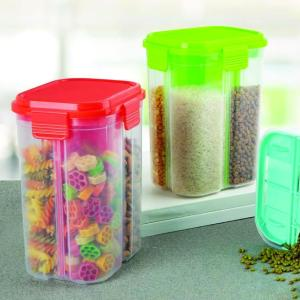 0763 Transparent 4 Section Storage Dispenser (2000 ml) - Bulkysellers.com