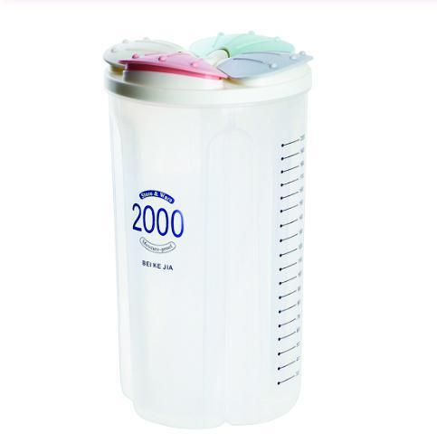 0766 Kitchen Storage - Transparent Sealed Cans/Jars/Storage Box 4 Section - Bulkysellers.com