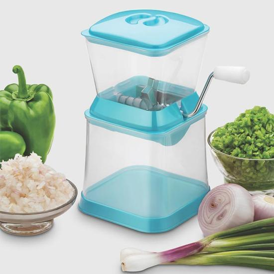 2003_Small Onion Chopper & Vegetable Chopper Quick Cutter with Rotating Blade - Bulkysellers.com