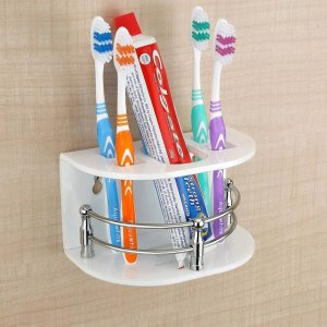 0697 Multi Purpose Tooth Brush Holder/Tooth Paste Stand   (H-107) - Bulkysellers.com