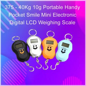 0375 -40Kg 10g Portable Handy Pocket Smile Mini Electronic Digital LCD Weighing Scale - Bulkysellers.com