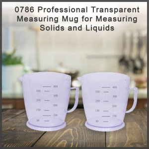 0786 Professional Transparent Measuring Mug for Measuring Solids and Liquids - Pack of 2 - Bulkysellers.com