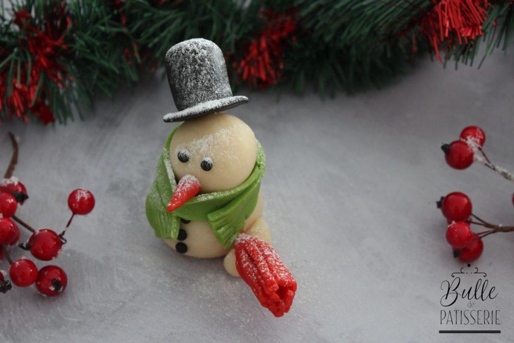 bonhomme de neige en pate d amande pate