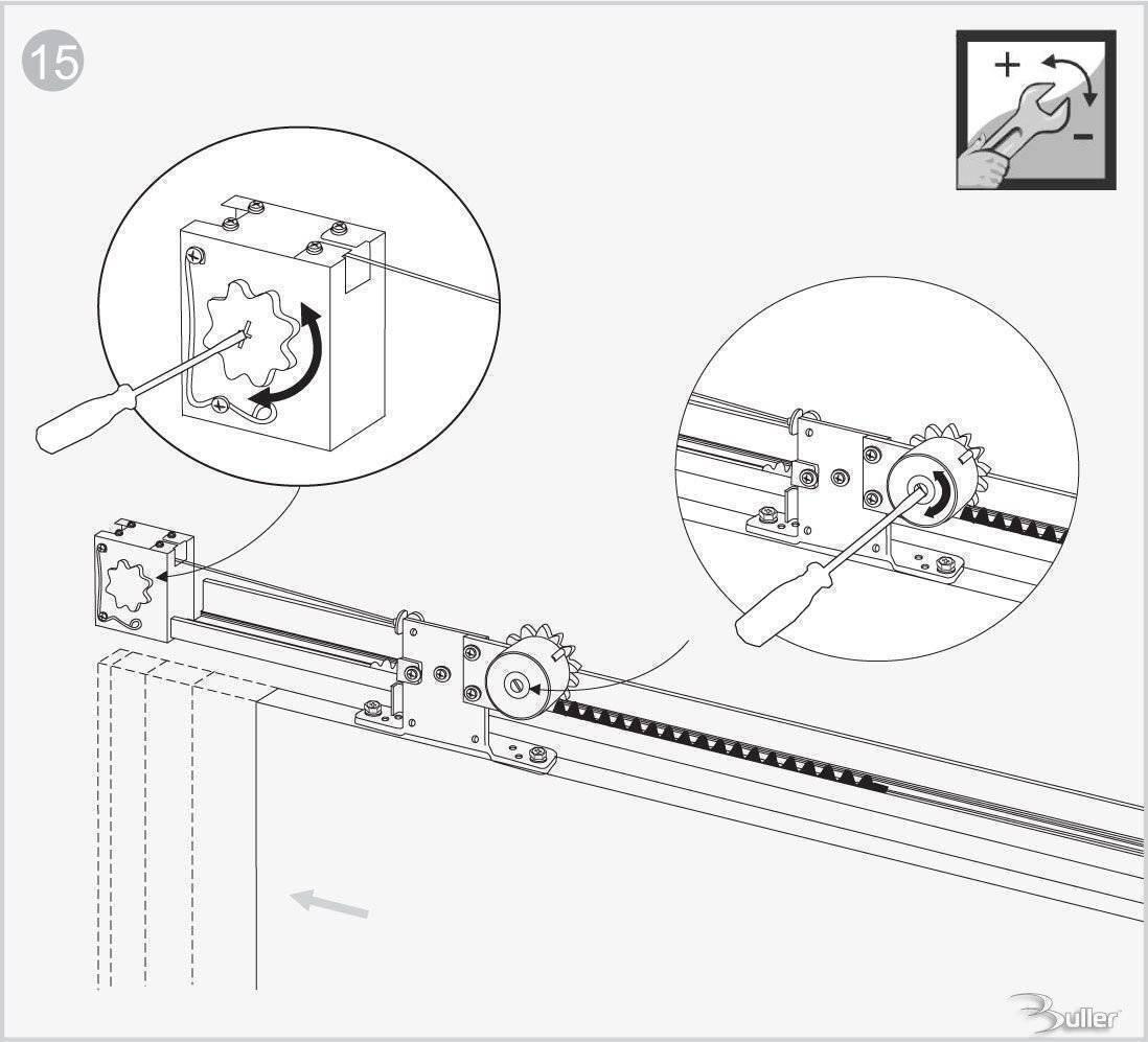 Hermes Semi Automatic Soft Close Sliding Door Gear Mm