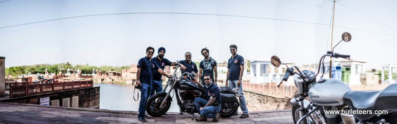Bulleteers, Royal Enfield Riders from Gwalior, ride to Machkund Dholpur to meet Royal Riders Agra