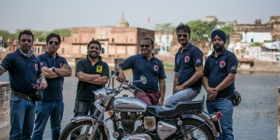 Bulleteers, Royal Enfield Riders from Gwalior, ride to Machkund, Dholpur to meet Royal Riders Agra