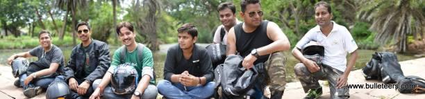 Bulleteers ride to Dev Kho, Gwalior, near tighra dam