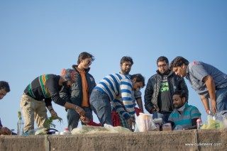 All the bulleteers getting involved in making poha for breakfast. Manish Satija took the lead and acted as the main chef