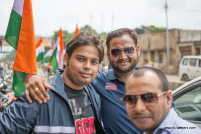 Bulleteer Dinesh Gupta during Independence Day Ride 2014