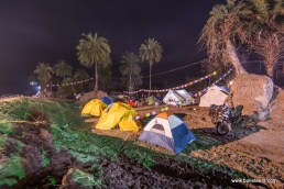 The bring your own tent area at rider mania 2015