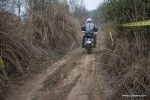 The narrow track going through tall grass. A part of the track for the time trials at rider mania 2015