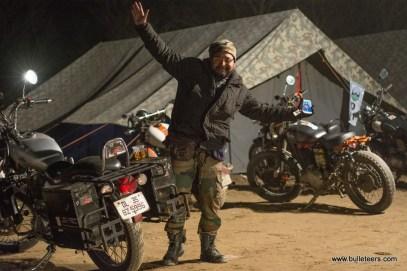 A happy rider with his Royal Enfield at the Rider Mania, 2015 at Kiker Lodge, Ropar, Punjab