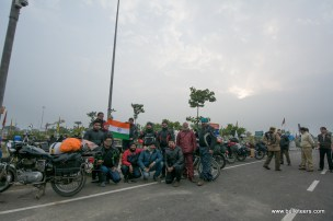 A memoir photo for Republic day with We Royal Riders, Agra after having lunch on Yamuna Expressway