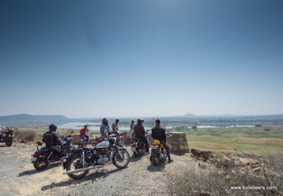 bulleteers on the way to pagara dam, on our breakfast ride on sunday