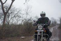 asif khan of bulleteers riding to kanher jhiri, near Ghatigaon, Gwalior