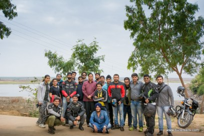 One Ride 2015. Bulleteers riding on their royal enfields to tighra dam, gwalior