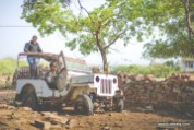 An old jeep at the pahadgarh police station