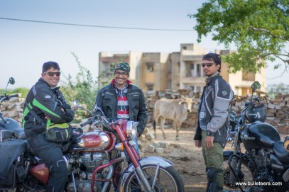 Bulleteers at the pahadgarh police station