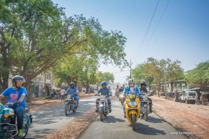 riders, new and old to Bulleteers, ride back from the short ride to Gohad fort