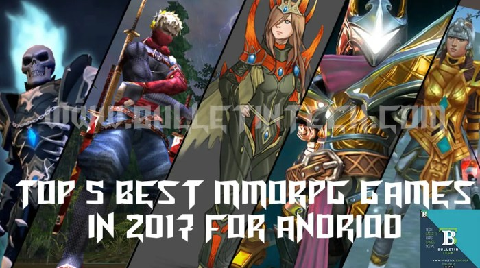 top five mmorpg games andriod 2017
